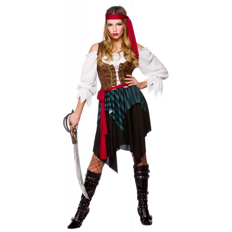 Pirátka zelená M