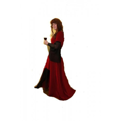Gothic šaty červené S/M