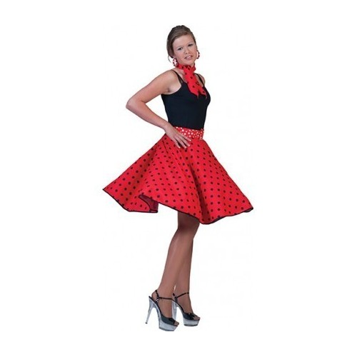 50.léta červená sukně M/L