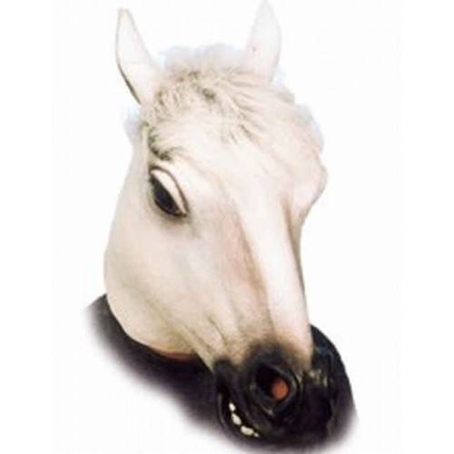 Maska kůň bílá