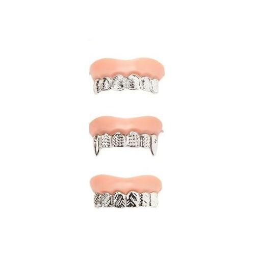 Zuby nasazovací - zlaté,stříbrné